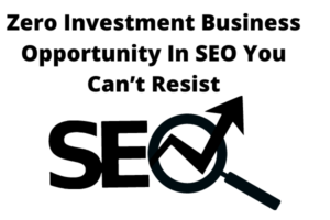 Zero Investment Business Opportunity In SEO You Can't Resist